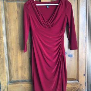 Ralph Lauren red cocktail dress